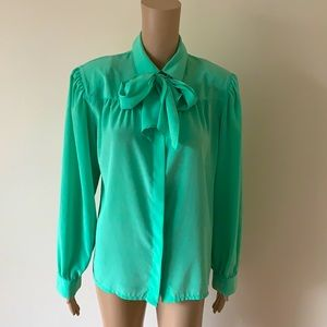 VINTAGE | Calin pussybow blouse
